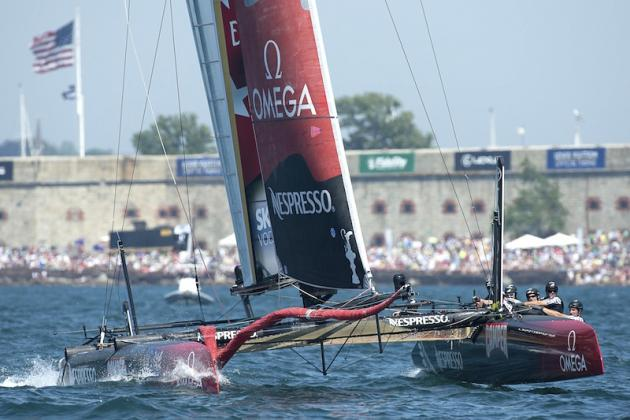 Team NZ AC45 crew back in its stride