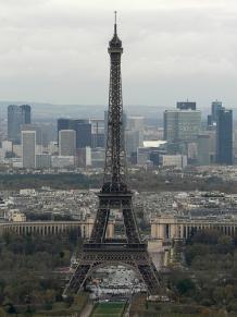 Eiffel Tower from Montparnasse. Pic: advencap