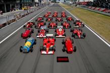 Ferrari through the ages.
