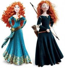 New Merida, left. Original Merida, right.