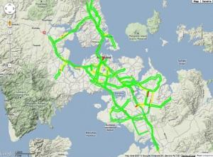 Traffic updates live and on-line for Auckland